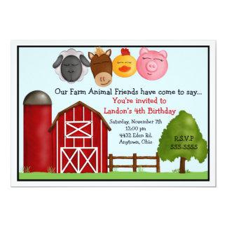 Abajo en las invitaciones de la granja invitacion personalizada