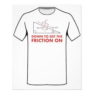 """Abajo para conseguir la fricción en diagrama de la folleto 4.5"""" x 5.6"""""""
