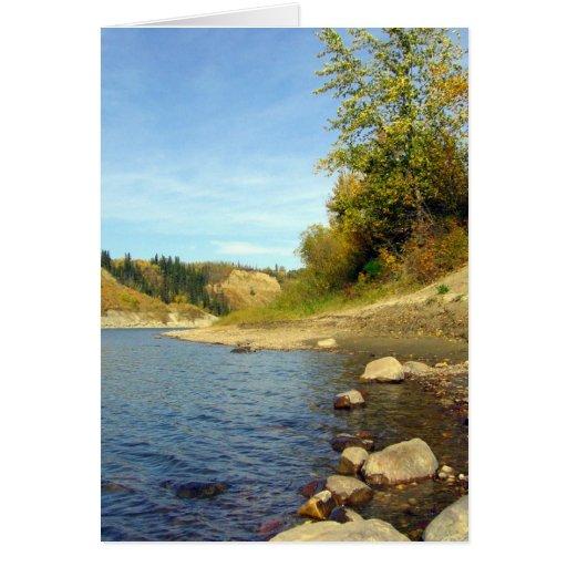 Abajo por el río tarjeta de felicitación