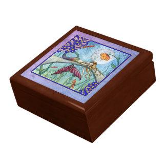 Abajo por la caja de la baratija del regalo de la joyero cuadrado grande