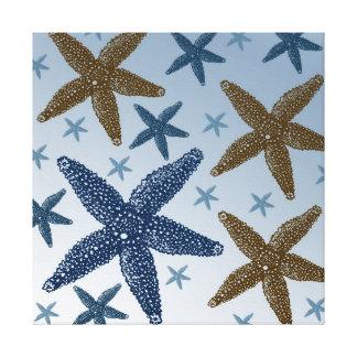 Abajo por las estrellas de mar del mar impresion en lona