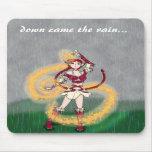 Abajo vino la lluvia alfombrilla de raton