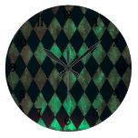 Abalone Argyle Design Wall Clock