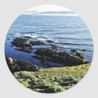 Abalone Fishing At Tomales Point Round Sticker