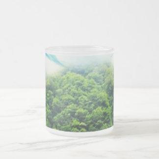 Abalone-Lake Frosted Glass Coffee Mug