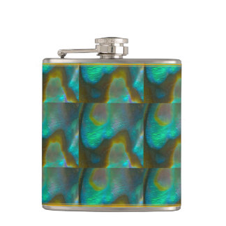Abalone Mosaic Flask