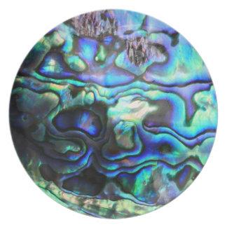 Abalone paua shell dinner plate