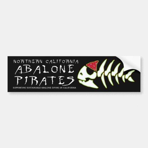 Abalone Pirates Car Bumper Sticker