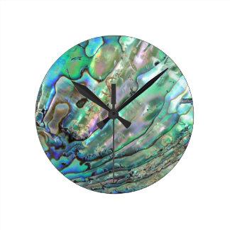 Abalone Round Clock