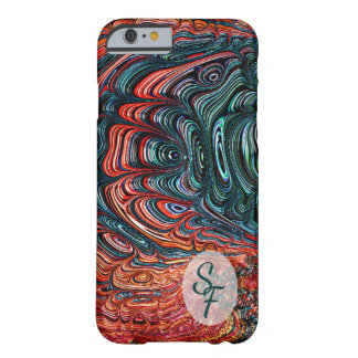 Abalone Shell Abstract Fractal Art Monogram Barely There iPhone 6 Case