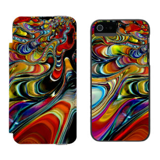 Abalone Shell Abstract iPhone SE/5/5s Wallet Case