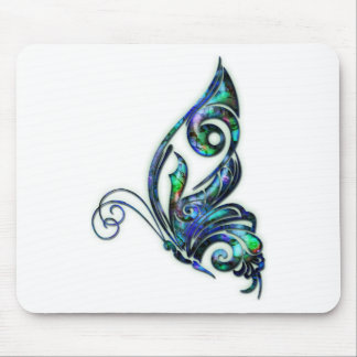 Abalone Shell Art Deco Butterfly Mouse Pad
