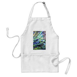 Abalone shell green blue paua adult apron