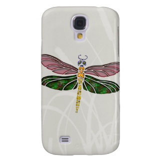 Abalone Shell & Stained Glass Dragonfly Galaxy S4 Cover