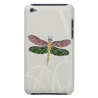 Abalone Shell & Stained Glass Dragonfly iPod Touch Case-Mate Case
