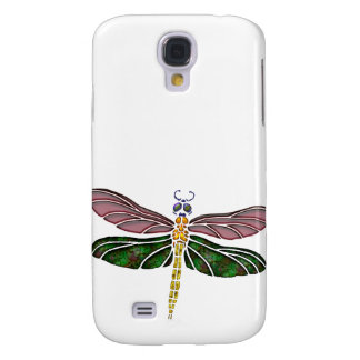 Abalone Shell & Stained Glass Dragonfly Samsung Galaxy S4 Cover