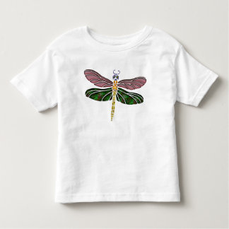 Abalone Shell & Stained Glass Dragonfly Toddler T-shirt