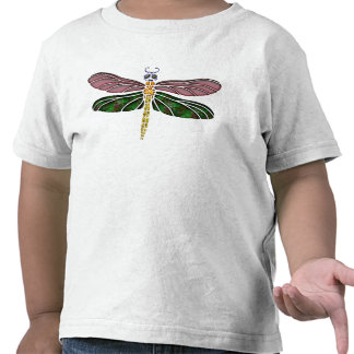 Abalone Shell & Stained Glass Dragonfly Tee Shirts