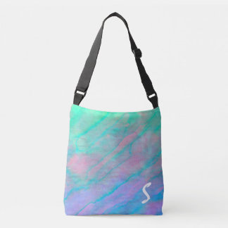 Abalone Shell Watercolor mother-of-pearl Shellfish Crossbody Bag