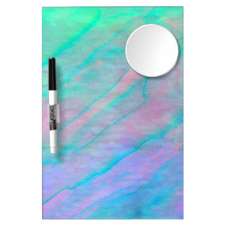 Abalone Shell Watercolor mother-of-pearl Shellfish Dry Erase Board With Mirror