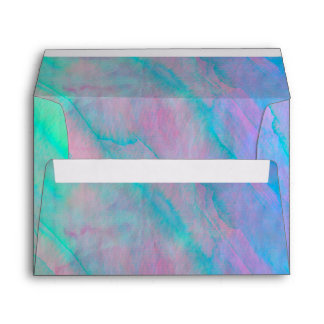 Abalone Shell Watercolor mother-of-pearl Shellfish Envelope