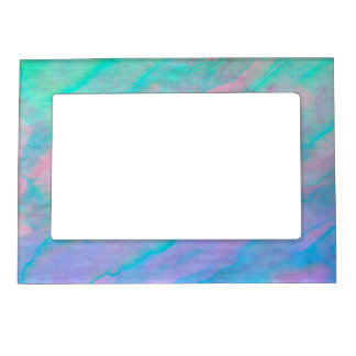Abalone Shell Watercolor mother-of-pearl Stone Magnetic Photo Frame