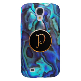 Abalone with Gold Harrington P Monogram Galaxy S4 Cover