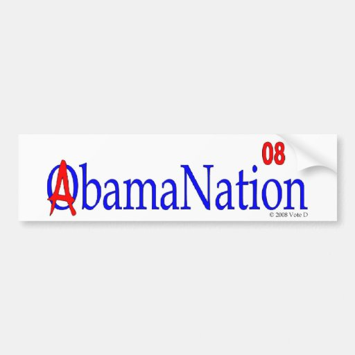 abamanation Bumpersticker de obama Etiqueta De Parachoque