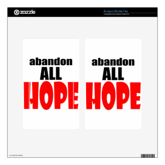 ABANDON all hope abandonallhope marine torpedo lau Skins For Kindle Fire