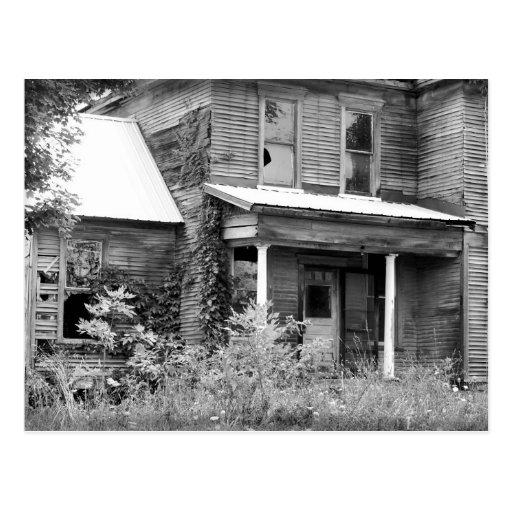 Abandonado a casa tarjeta postal