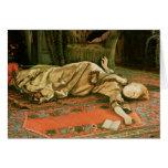 Abandonado, c.1881-2 tarjeta de felicitación