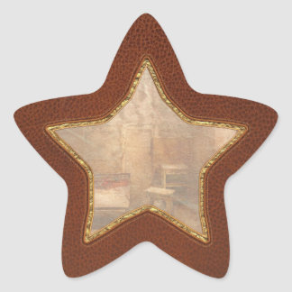 Abandonado - cadena perpetua pegatina en forma de estrella