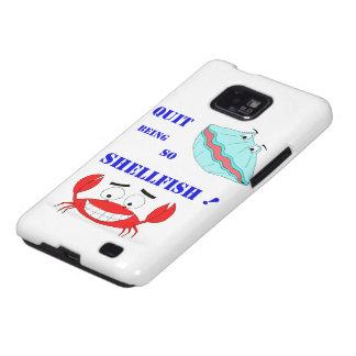 ¡Abandonado el ser tan crustáceos! Samsung Galaxy S2 Carcasas