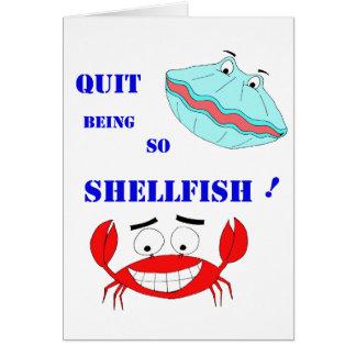 ¡Abandonado el ser tan crustáceos! Tarjeta