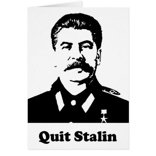 Abandone a Stalin Tarjeta De Felicitación