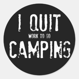 ¿Abandoné el acampar?? Etiquetas Redondas