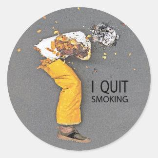 Abandoné el fumar del pegatina