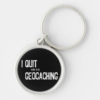 ¡Abandoné Geocaching?! Llavero Redondo Plateado