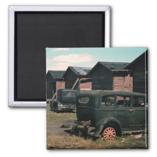 Abandoned, 1941 2 inch square magnet