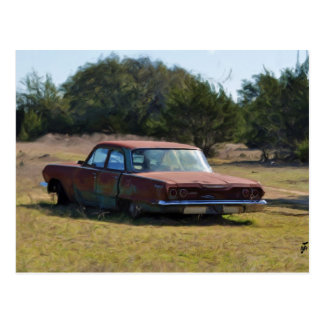 Abandoned 63 Chev. Postcard