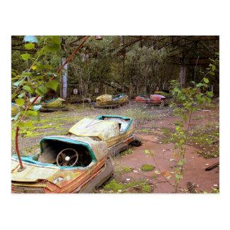 Abandoned Amusement Park, Chernobyl Postcard