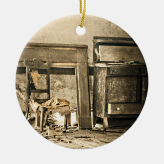 Abandoned Antique Furniture Ceramic Ornament