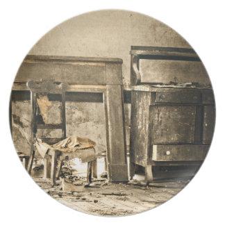 Abandoned Antique Furniture Dinner Plate