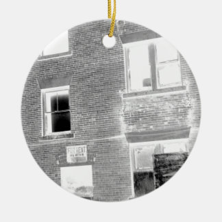 Abandoned Apartment For Rent - negative Ceramic Ornament