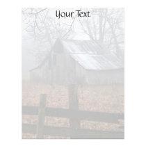 Abandoned Barn in the Foggy Morning Letterhead