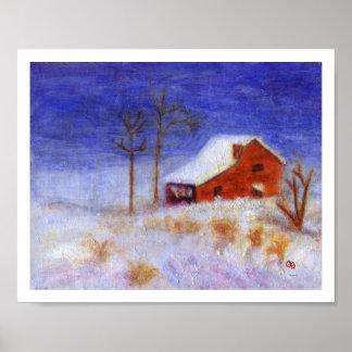 Abandoned Barn-Winter, Poster