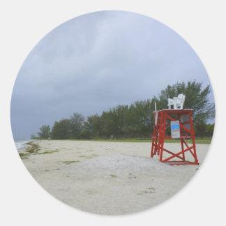 Abandoned Beach Classic Round Sticker