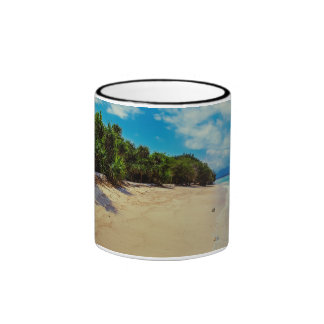 Abandoned beach ringer coffee mug