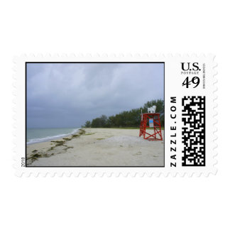 Abandoned Beach Postage Stamps