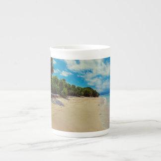 Abandoned beach tea cup